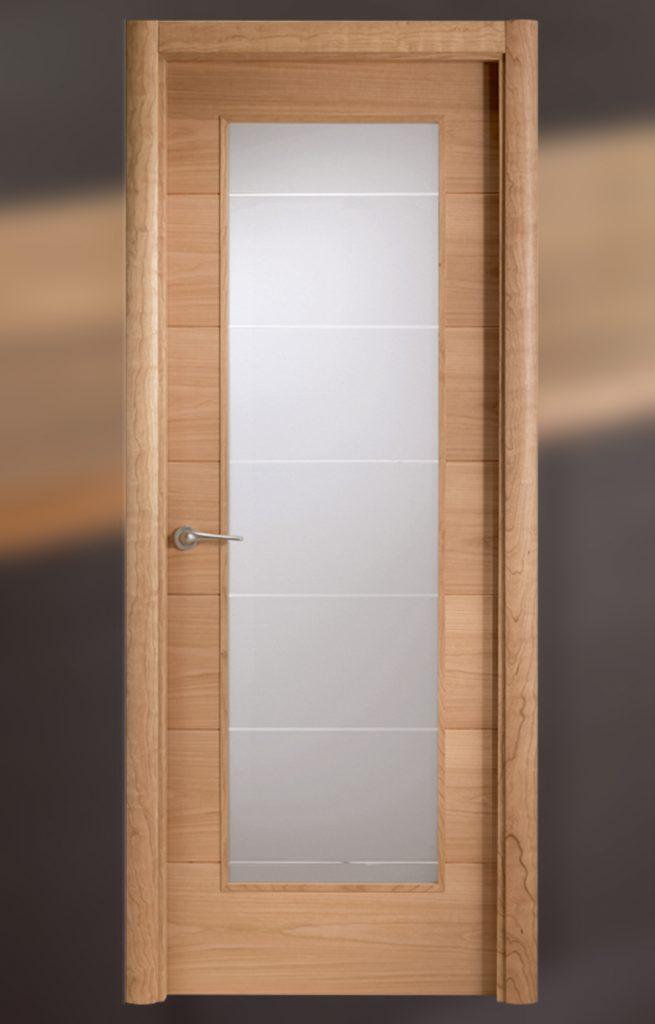 Puerta interior con cristal