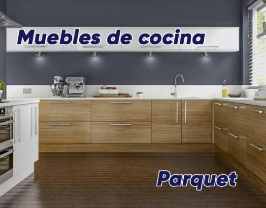 Parquet y muebles de cocina